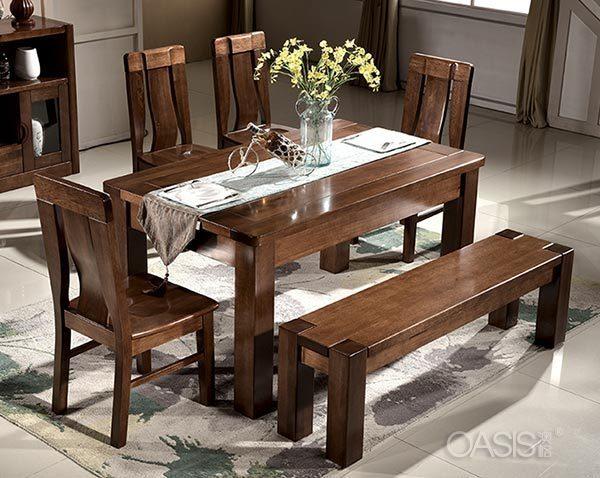 黑胡桃木餐桌椅