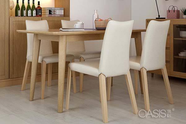 北欧实木餐桌椅