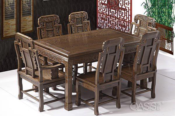 鸡翅木餐桌椅