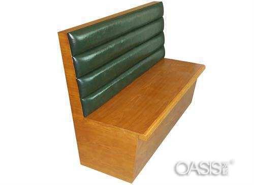 实木单面卡座沙发