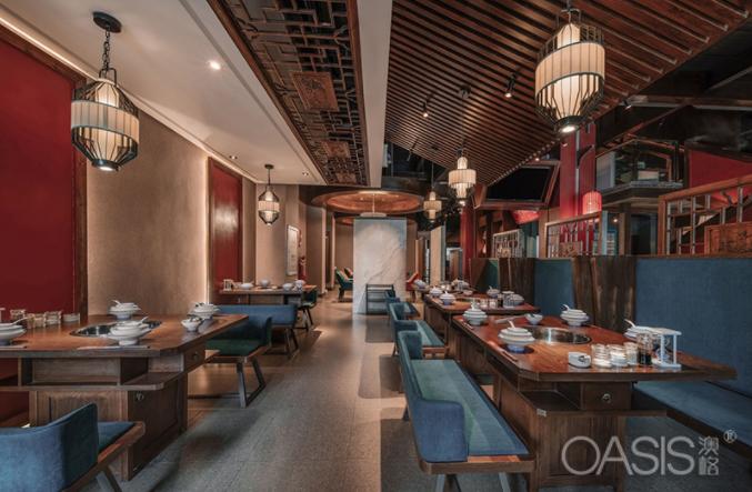 菌王府菌汤火锅餐厅家具生产案例
