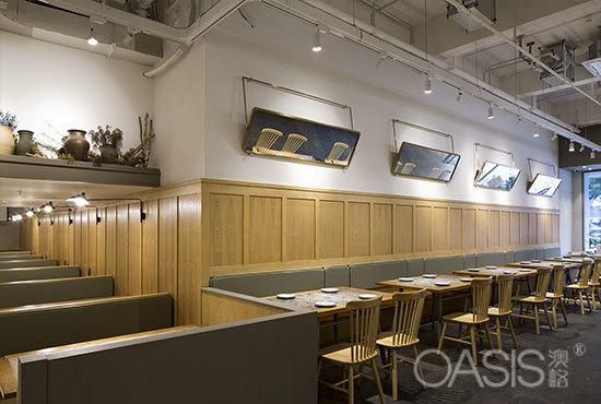 珠海(拱北店)餐厅家具定制工程案例餐厅桌椅