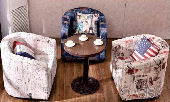 咖啡桌和沙发在咖啡厅中的作用效果|餐饮家具