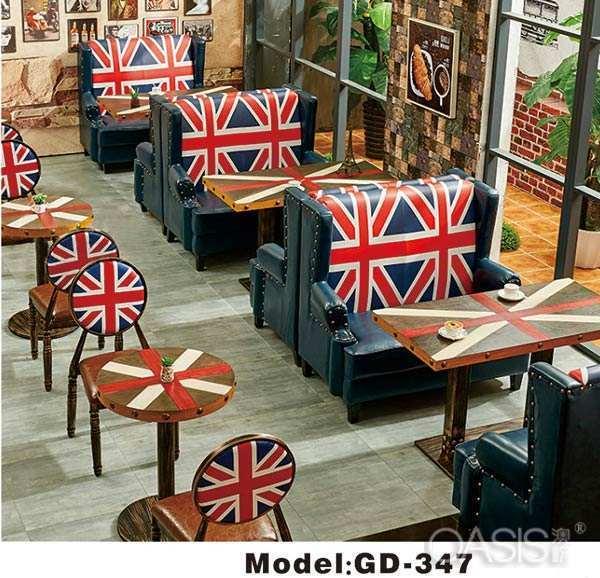 咖啡厅半圆卡座沙发尺寸多少适合|餐饮家具