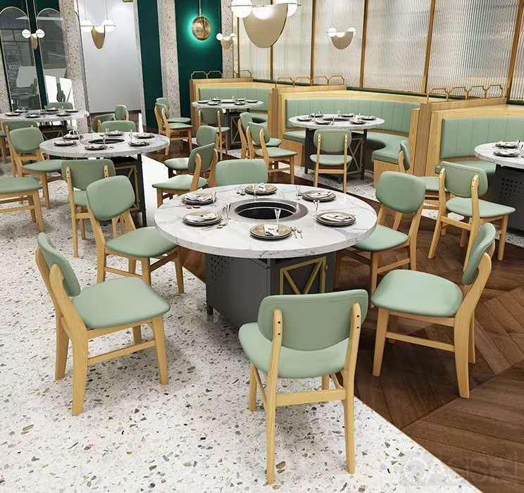 餐厅家具中实木火锅桌椅和仿实木桌椅有啥区别