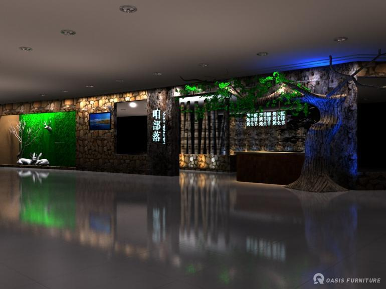 上海咱部落音乐餐厅家具定制工程案例