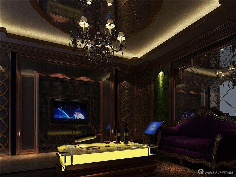 乐山紫韵柔情主题KTV设计家具定制工程案例