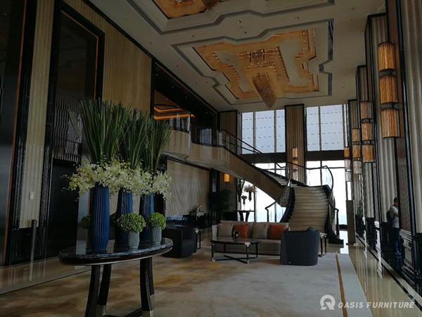 长沙瑞吉酒店贻雅足浴室沙发定制工程案例