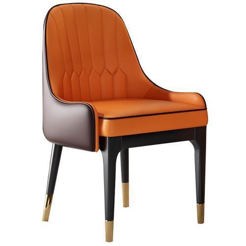户外家具西餐厅北欧实木休闲皮椅