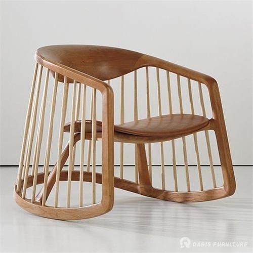 妆椅日式火锅店实木餐椅定做