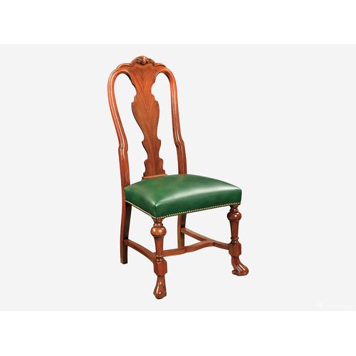 书椅桃花心木皮椅子22