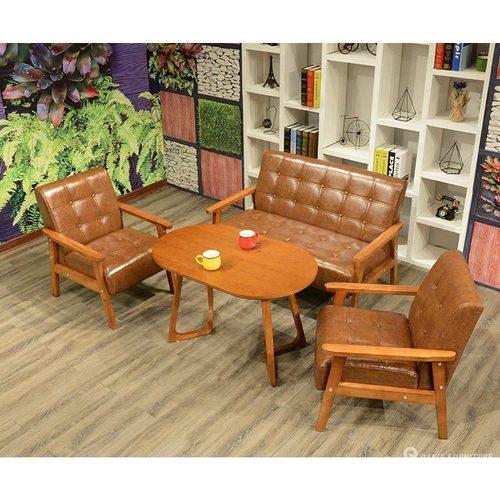 茶几咖啡厅皮艺沙发